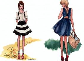 эскизы одежды курсы