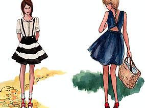 эскизы одежды скетчи